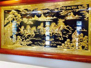 Tranh Mã Đáo Thành Công Mạ Vàng 24k