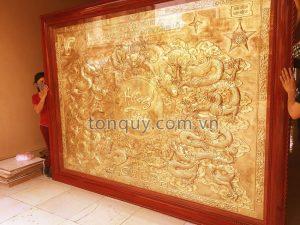 Tranh Cửu Long Hưng Thịnh Dát Vàng 24k