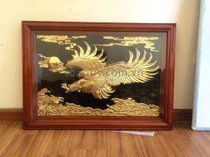 Tranh Đại Bàng Tung Cánh Mạ Vàng 24k