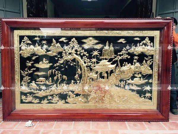 Tranh Phong Cảnh Đồng Quê Mạ Vàng 24k