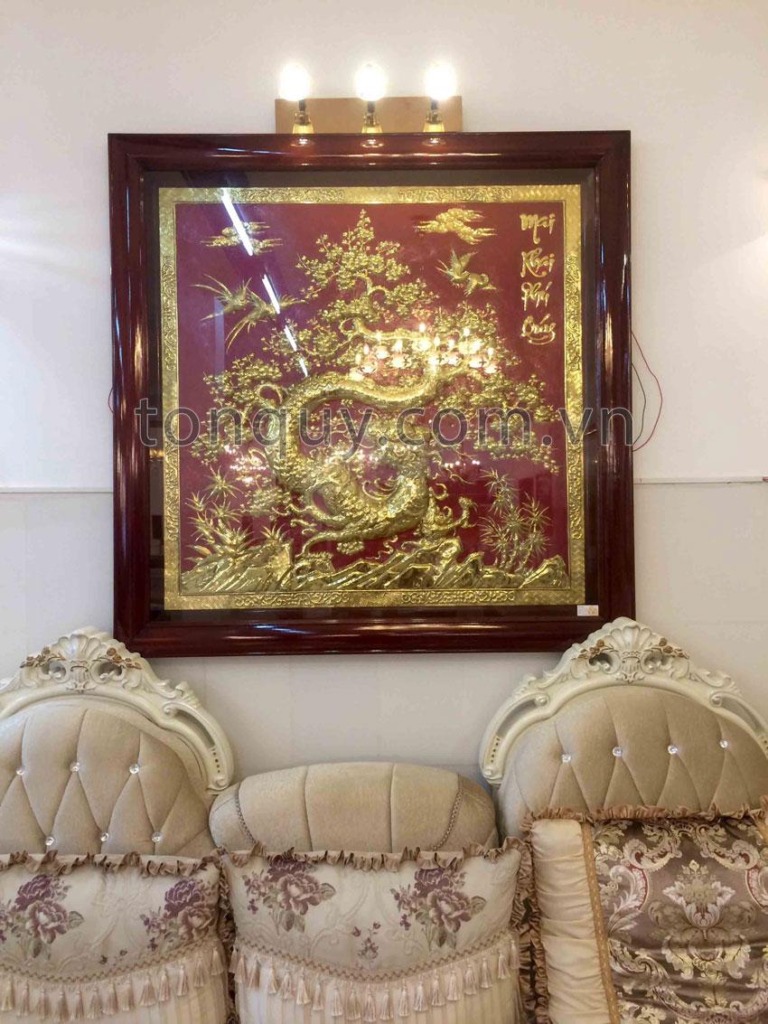 Tranh Mai Khai Phú Quý Mạ Vàng 24k