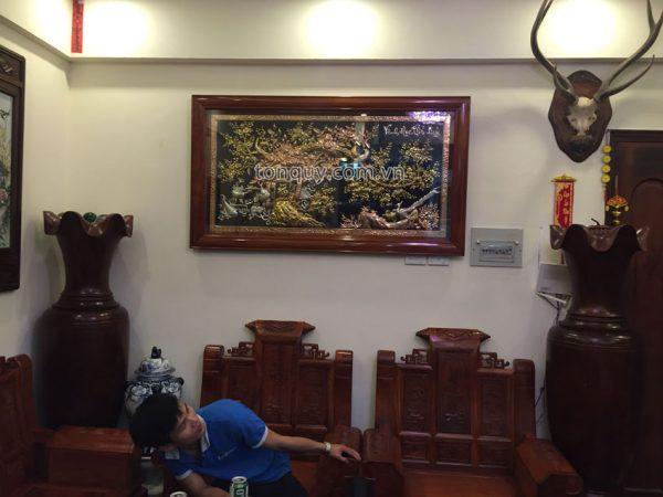 Tranh Vinh Hoa Phú Quý Tam Khí